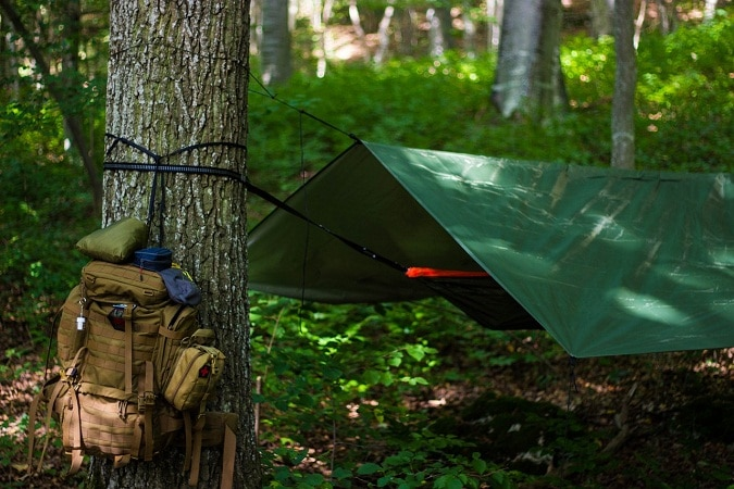 Hunter X Cible militaire vert Portable Tente Camping Hanging Lumière DEL