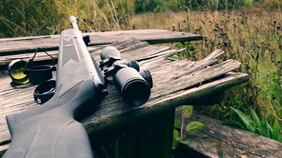 carabine à air avec lunette de visée pour la chasse sportive