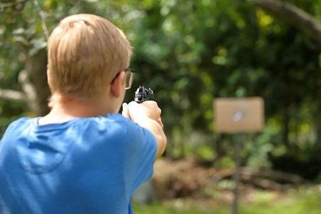 pistolet à air comprimé de tir garçon