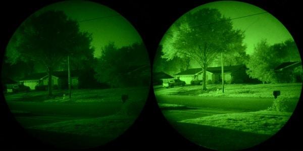 Comparaison de la vision nocturne des générations 2 et 3