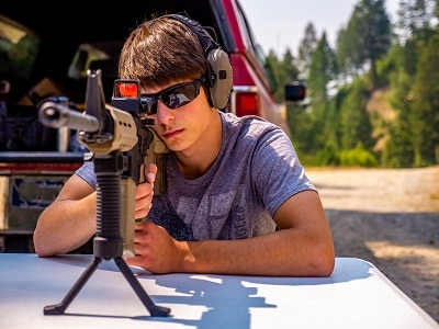 tir à la cible avec fusil
