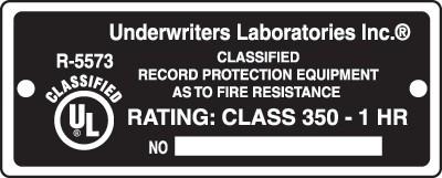 Test de résistance au feu des équipements de protection d'enregistrement