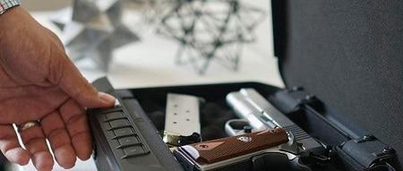 Coffre-fort pour pistolet à ouverture du pouce de l'homme